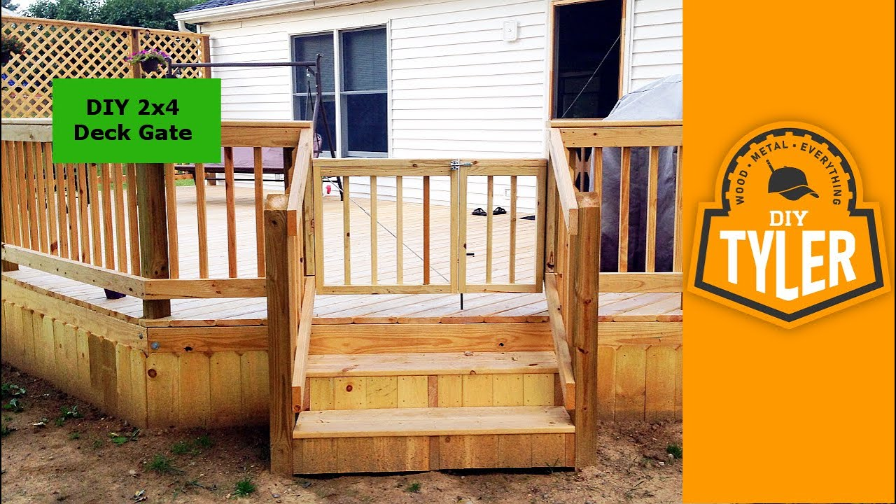 Diy 2x4 Deck Gate Youtube