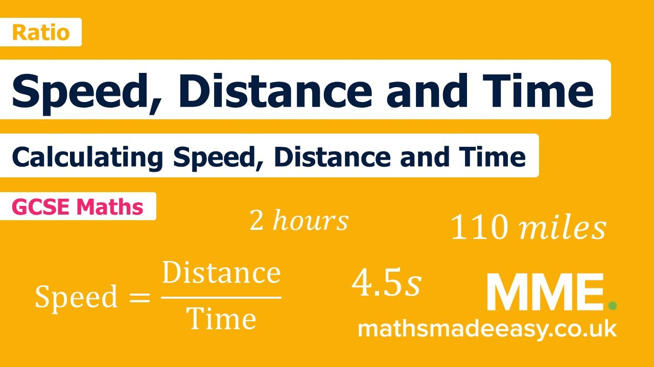 hight resolution of Speed Distance Time Questions   Worksheets and Revision   MME