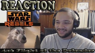 Star Wars Rebels Season 4 Episode 6 REACTION! - Flight of the Defender