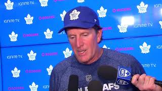Maple Leafs Practice: Mike Babcock - December 10, 2018