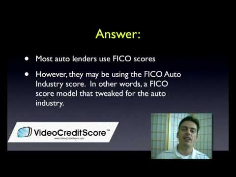 Auto Loans and FICO Credit Scores