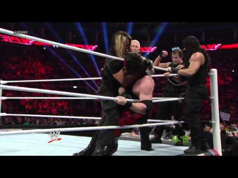 Undertaker, Kane & Daniel Bryan vs. The Shield [22.04.2013] HD