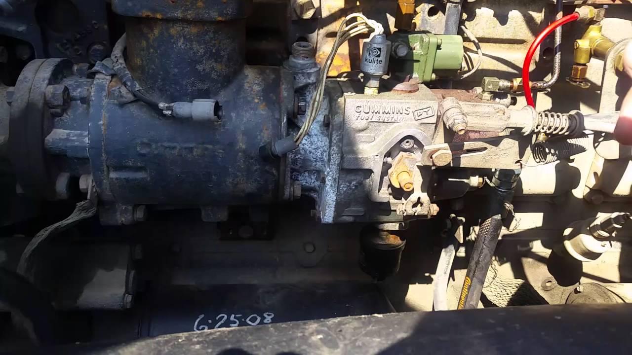 NHC250 cummins injection pump removal