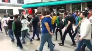 Kocaelispor taraftarları Eskişehir'i fethetti