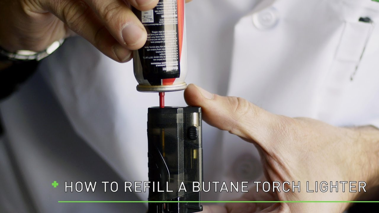 Refuel butane lighter
