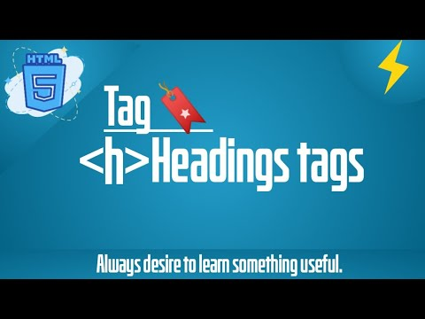 What Is Heading Tag In Html? (h1)   HTML5,Html Tutorial   Thunder Coding   With Simple Example
