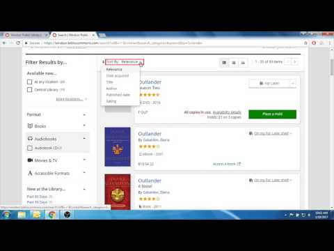 How to Search the Online Catalogue