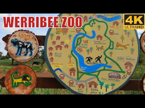 WERRIBEE ZOO - MELBOURNE ZOO AUSTRALIA GO PRO 8 TOUR 4K