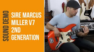 Sire Marcus Miller V7 2nd Generation - Sound Demo (no talking)