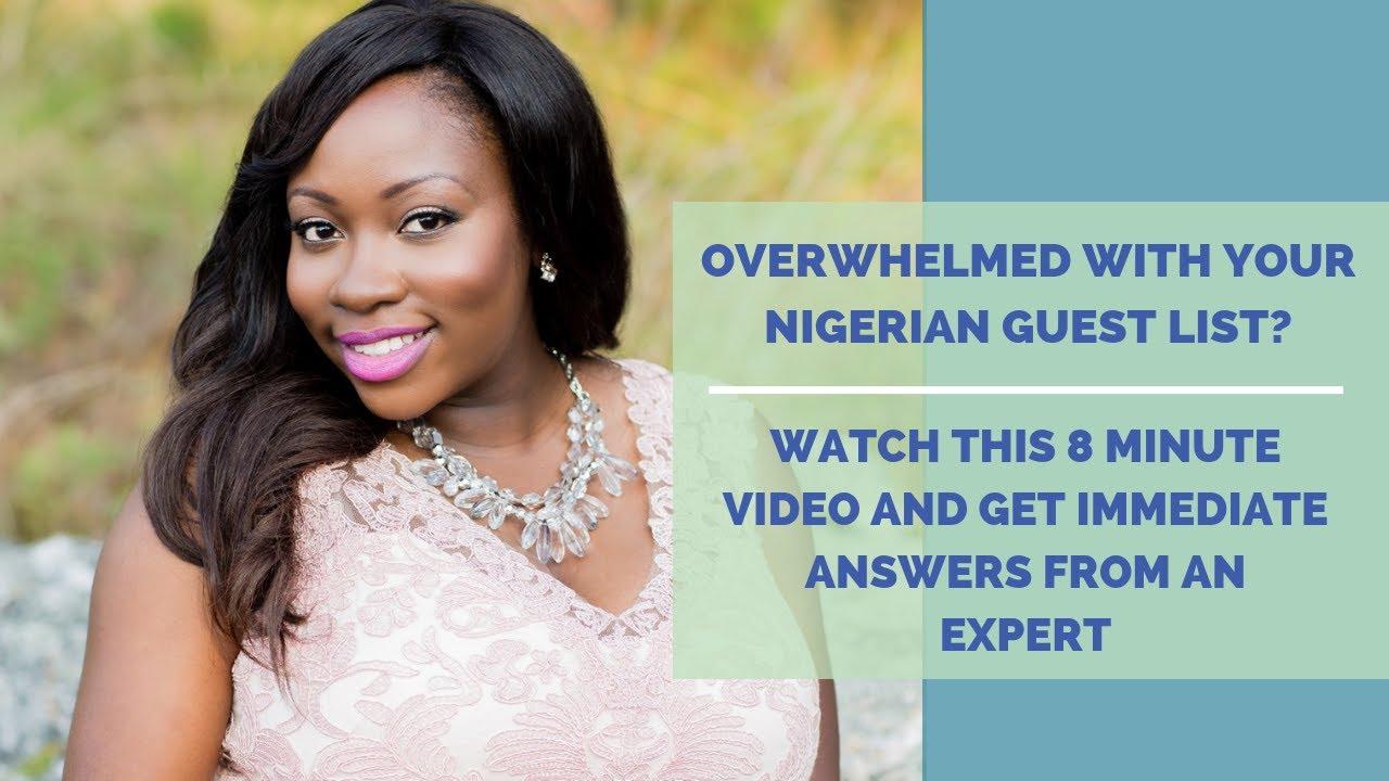 Nigerian Wedding Planner || Getting a Handle on Your Nigerian Guest List