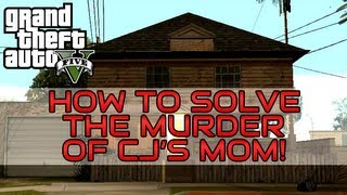 """Grand Theft Auto V: Solve CJ's Moms Murder"" ""GTA V CJs Mom"" ""GTA V letter scrap location"""