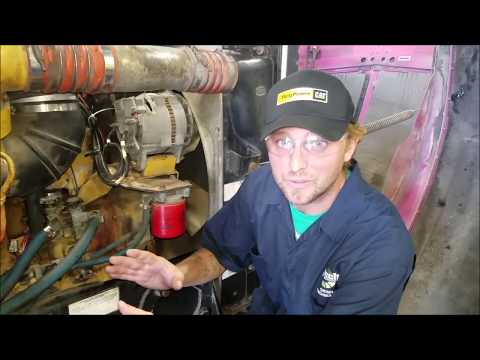 Engine components on a C13 Caterpillar diesel Explained