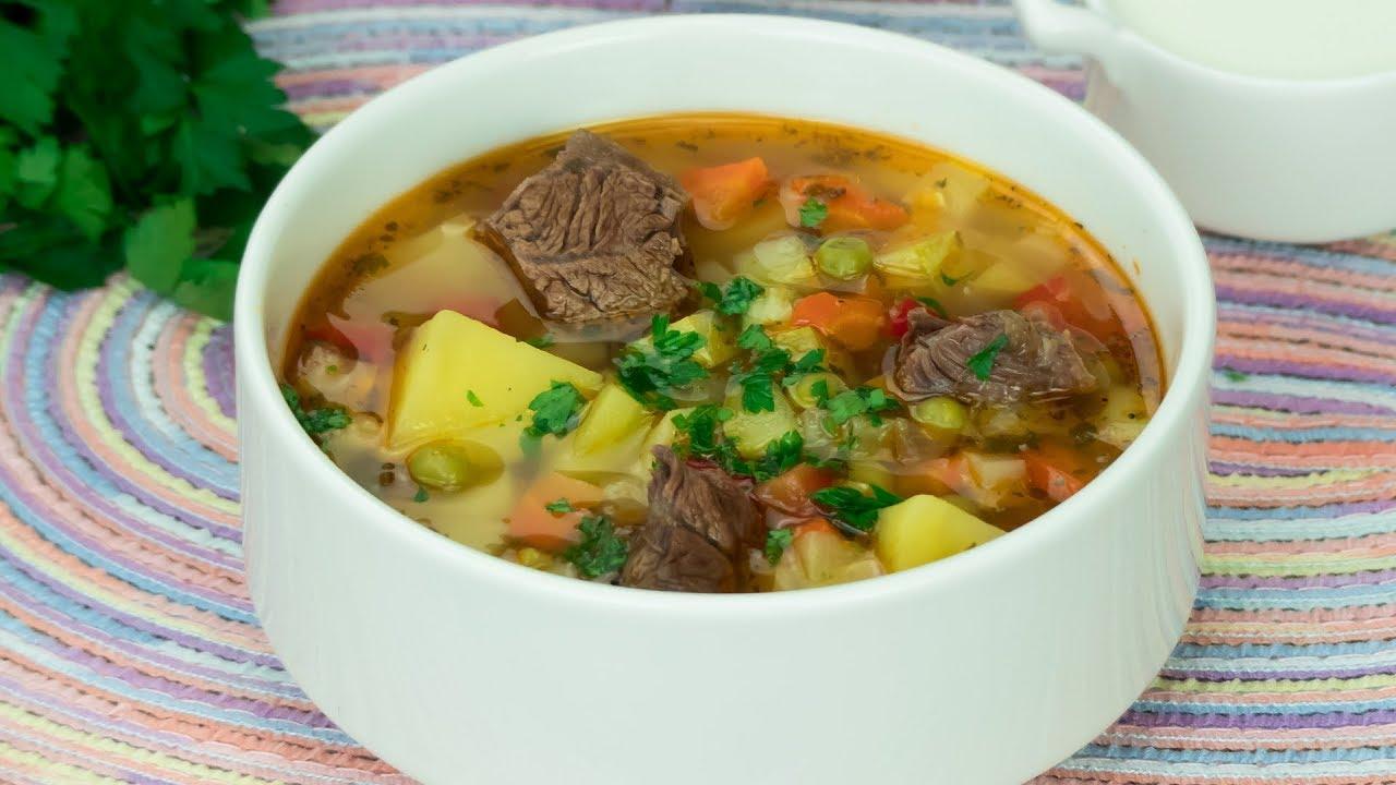 вкусный наваристый суп из говядины