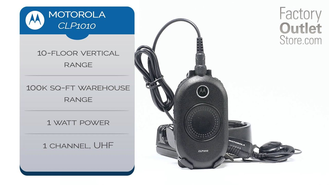 Motorola CLP1010 Two-Way Radio