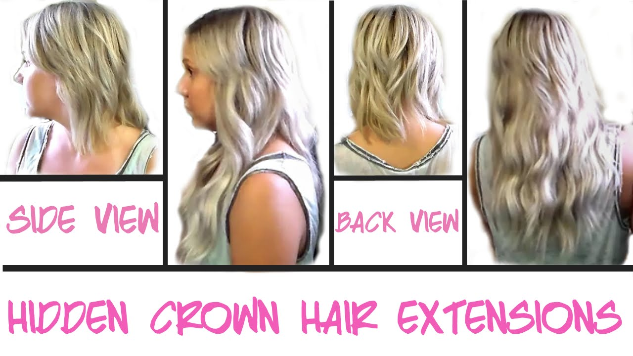 Hidden Crown Hair Extensions Custom Color Demo Review Youtube
