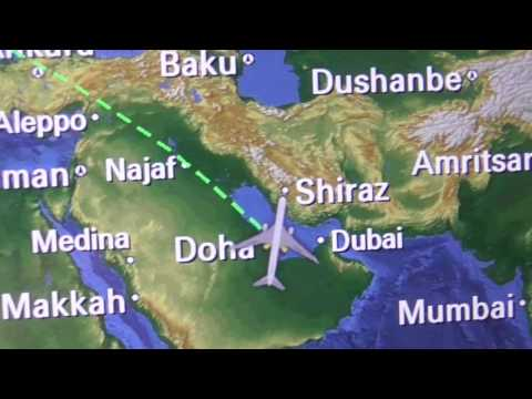 Qatar Airways Dreamliner 787 Doha to Birmingham Taxi, Take off and landing on 23/02/2017