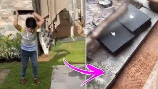 فورت نايت  5 اشخاص عرب يكسرون البلايستيشن !!