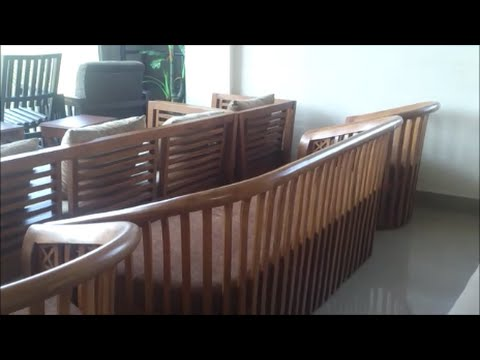teak wood sofa set philippines cost plus world market luxe slipcover curved design for youtube