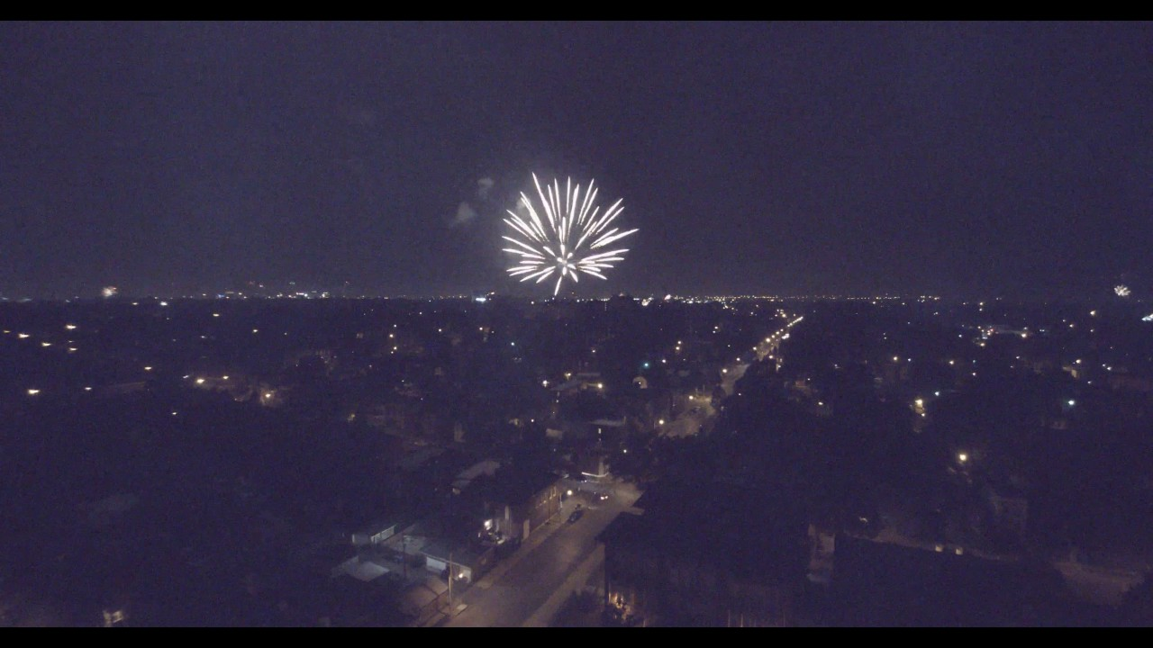 23 minutes of South Saint Louis firework drone footage.