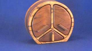 Model - 25 | Peace Sign | 3 Drawer Jewelry Box