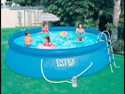 Intex easy set pool youtube for Obi easy pool