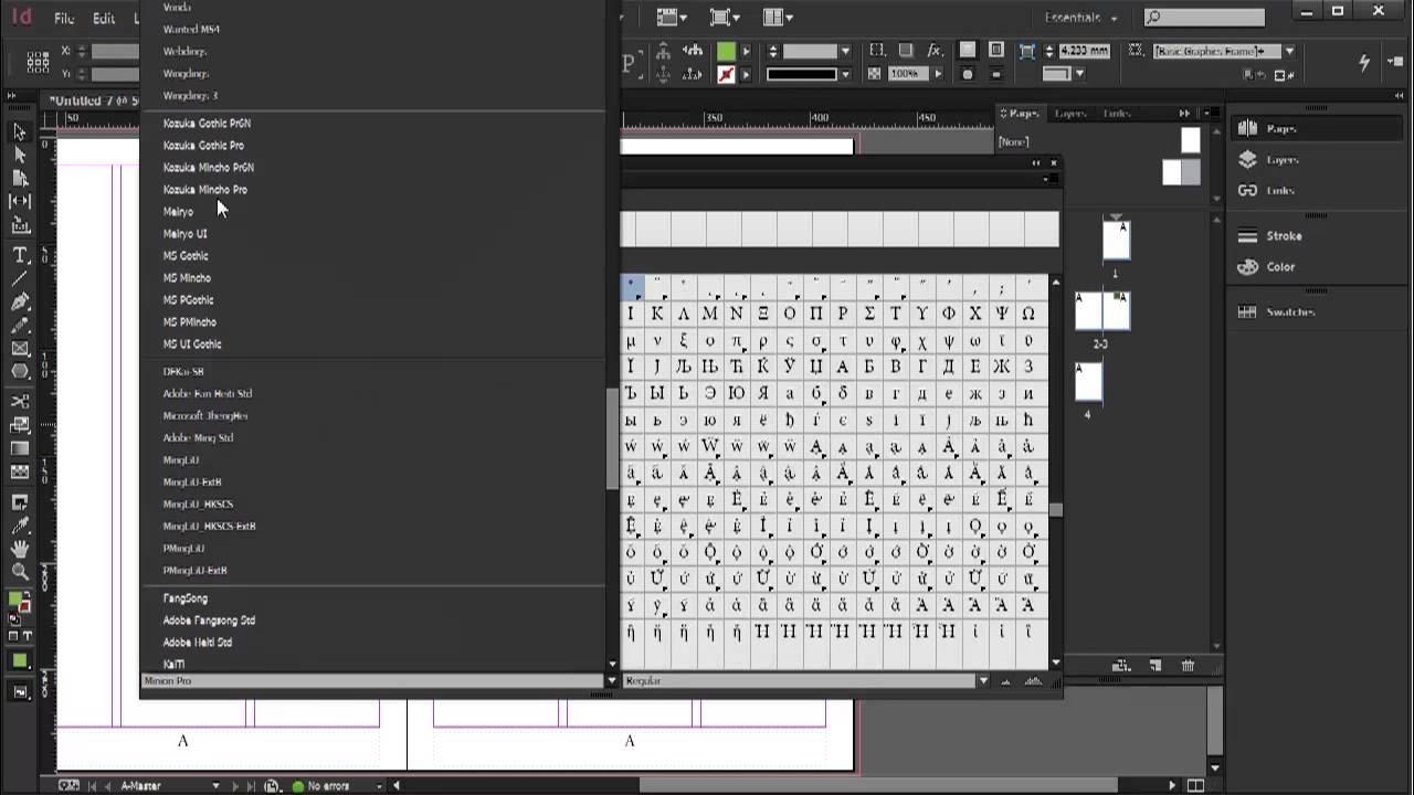 Glyphs Indesign Cc Tutorial 1120 Youtube