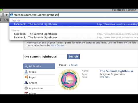 HOWTO:  Find and Fan The Summit Lighthouse on Facebook