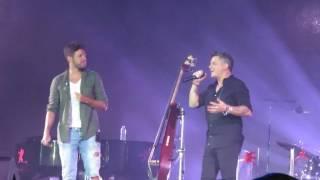 """Alejandro Sanz """"No me compares""""   Intro a piano y dueto con  Pablo López. Jerez 29/07/2016"""
