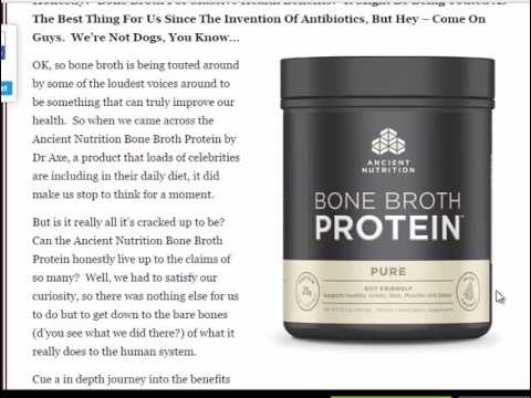 bone broth nutrition benefits nutrition ancient nutrition bone broth protein review is it any