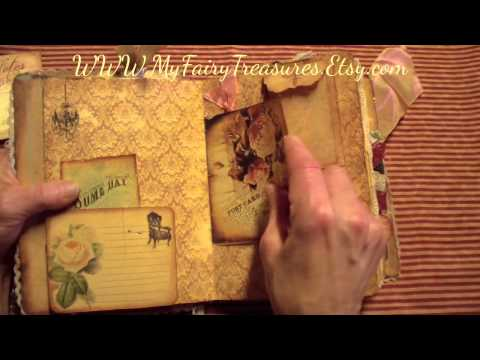 "SCRAPPY HAPPY HOUR - MY FAIRY TREASURES DT PROJECT ""Memoirs vintage journal"""