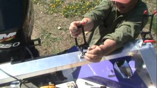 How To Install A Fishing Rod Rack For Rod Holders.