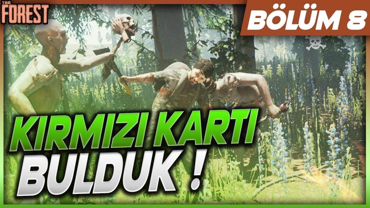 KIRMIZI KARTI BULDUK ! The Forest Bölüm 8 (Survivor)
