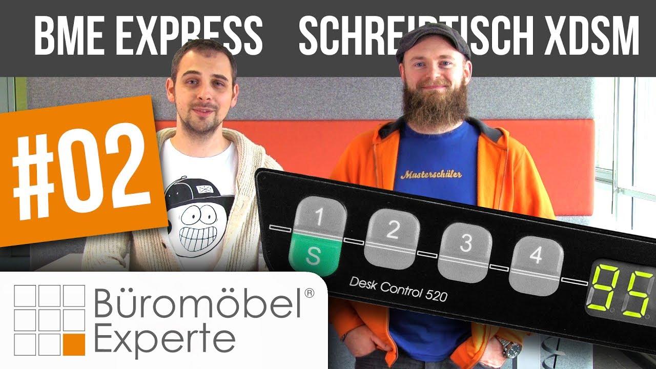 Elektrisch höhenverstellbarer Schreibtisch XDSM BME express ...