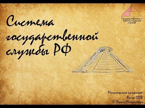Система государственной службы РФ (лекция)