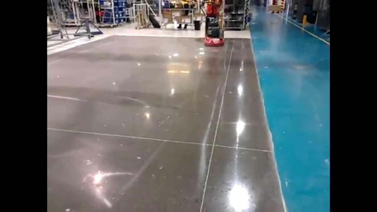 Pulido y abrillantado de pisos de concreto youtube for Piso de concreto pulido