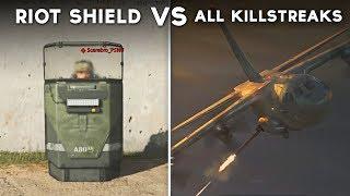 All Killstreak Attacks on Riot Shield - Call of Duty: Modern Warfare (Shield vs Every Killstreak)