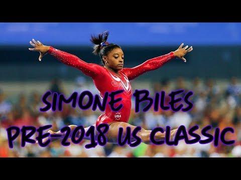 Simone Biles Ahead of Gymnastics US Classic 2018