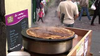 MAKING CHOCOLATE CREPES THE FRENCH WAY.
