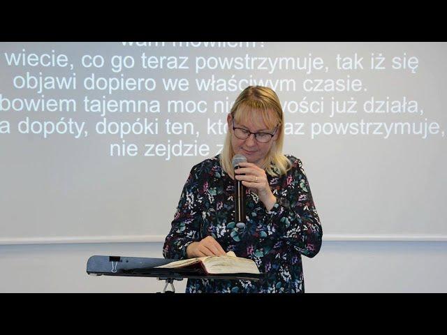 Niedzielne nabożeństwo - kazanie głosi Pastor Bożena Piotrowska - 04.10.2020