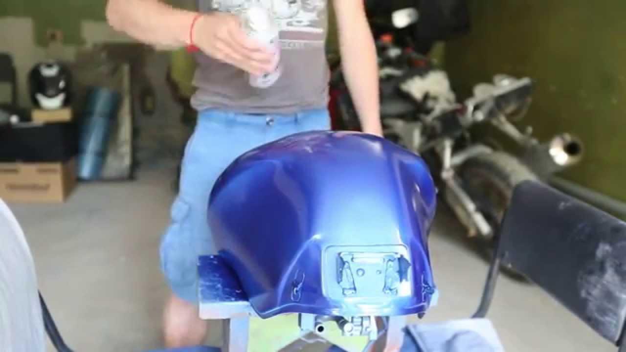 Аэрозольная краска Металлик: покраска мотоцикла из баллончика .