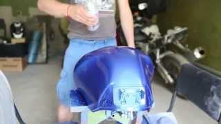 Аэрозольная краска Металлик: покраска мотоцикла из баллончика(Видео об окраске мотоцикла аэрозольной краской