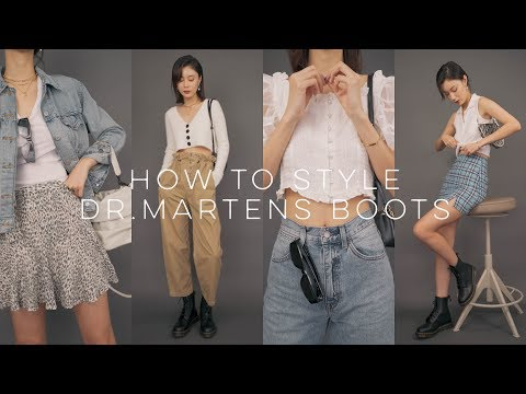 HOW TO STYLE DR.MARTENS BOOTS | 如何搭配马丁靴 | LOOKBOOK