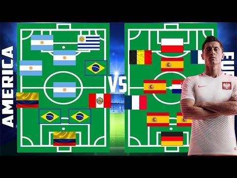 Alineaciones alternas, América vs Europa del Mundial Rusia 2018