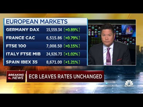 European Central Bank leaves rates unchanged