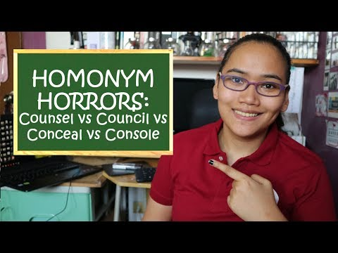 Homonym Horrors: Counsel, Council, Conceal, Console - Civil Service Exam Review