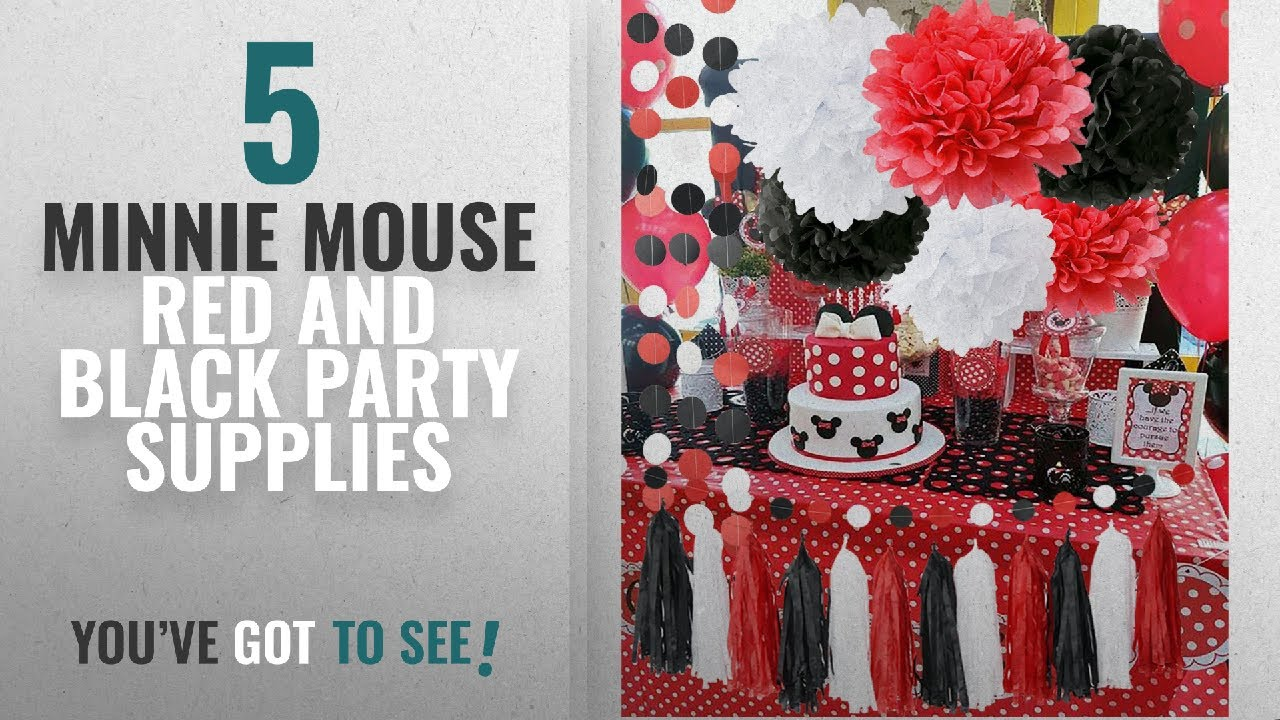 Top 10 Minnie Mouse Red And Black Party Supplies 2018 Minnie