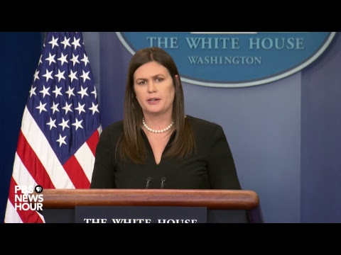 WATCH LIVE: President Donald Trump's press secretary Sarah Sanders holds White House news briefing.