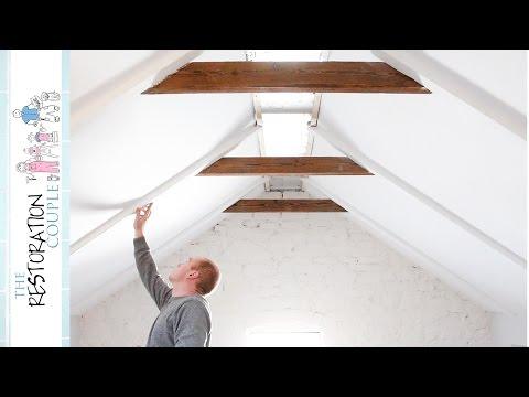 DIY Faux Rustic Beams & Rafters