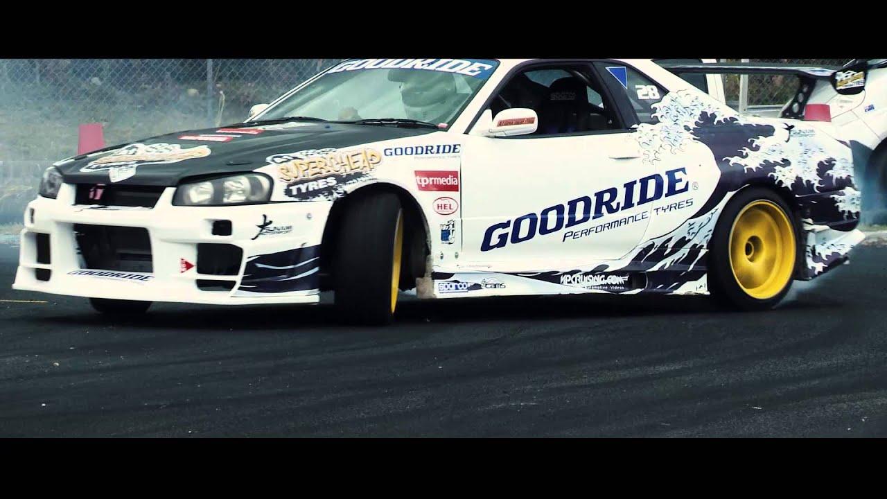 v8 r34 skyline drift car kris frome youtube