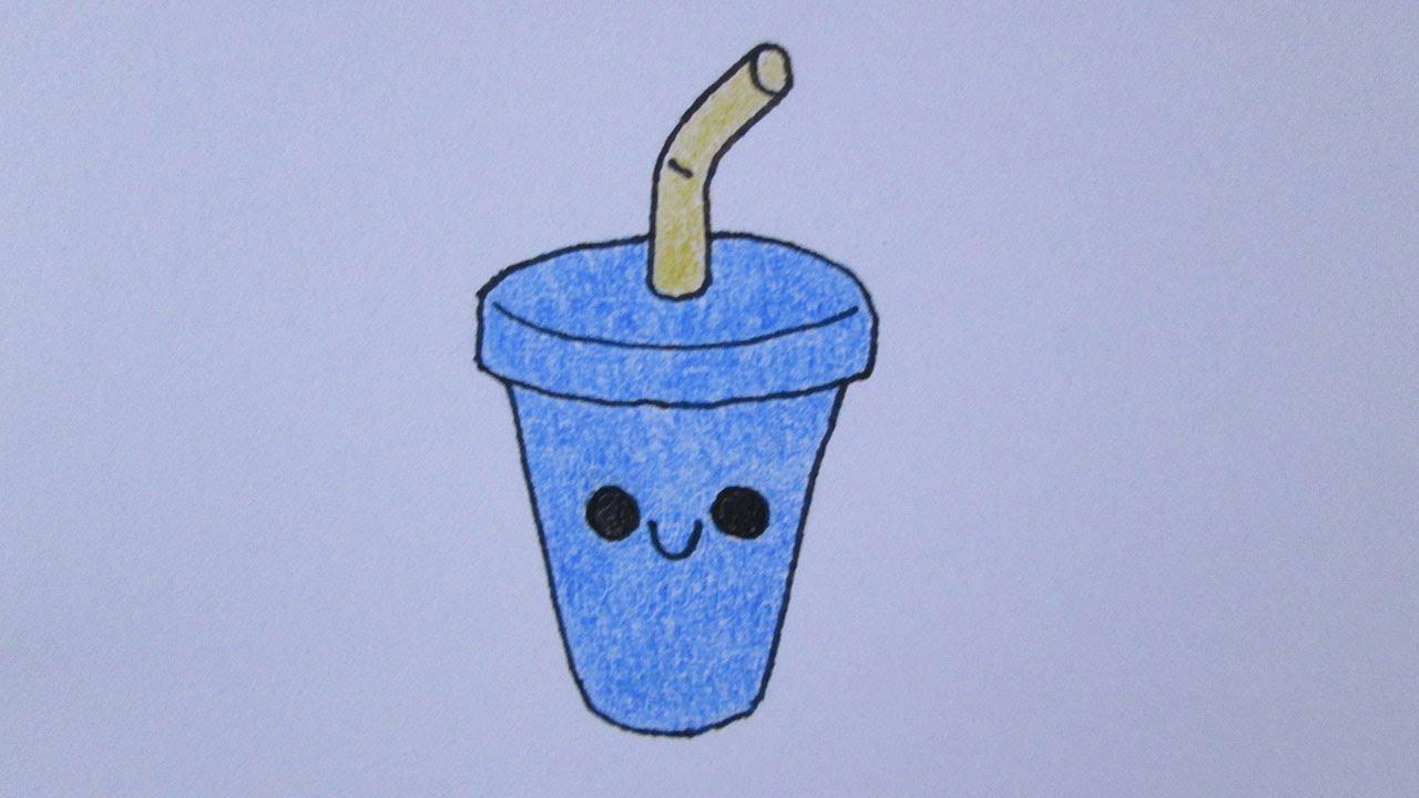 Como Desenhar Um Milk Shake Fofo